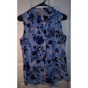 4/$25🌺 Dana Bachman sleeveless floral shirt small